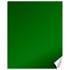 Solid Christmas Green Velvet Classic Colors Canvas 16  X 20   by PodArtist