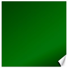 Solid Christmas Green Velvet Classic Colors Canvas 20  X 20   by PodArtist