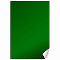 Solid Christmas Green Velvet Classic Colors Canvas 20  X 30   by PodArtist
