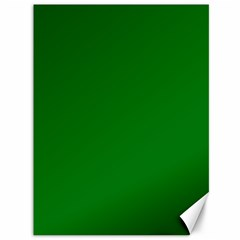 Solid Christmas Green Velvet Classic Colors Canvas 36  X 48   by PodArtist