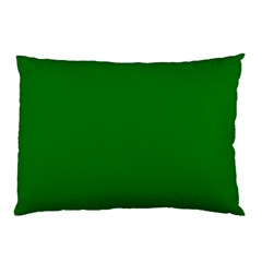 Solid Christmas Green Velvet Classic Colors Pillow Case (two Sides) by PodArtist