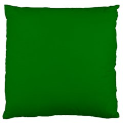Solid Christmas Green Velvet Classic Colors Large Cushion Case (one Side) by PodArtist