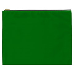 Solid Christmas Green Velvet Classic Colors Cosmetic Bag (xxxl)