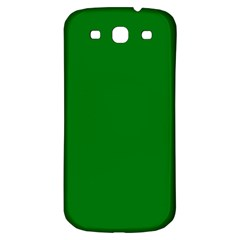 Solid Christmas Green Velvet Classic Colors Samsung Galaxy S3 S Iii Classic Hardshell Back Case by PodArtist