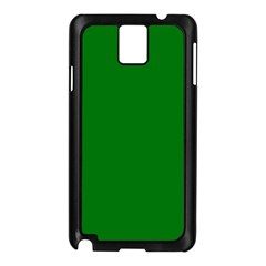 Solid Christmas Green Velvet Classic Colors Samsung Galaxy Note 3 N9005 Case (black) by PodArtist