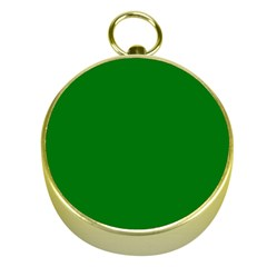 Solid Christmas Green Velvet Classic Colors Gold Compasses by PodArtist
