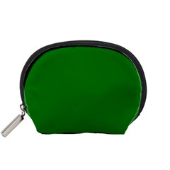 Solid Christmas Green Velvet Classic Colors Accessory Pouches (small)  by PodArtist