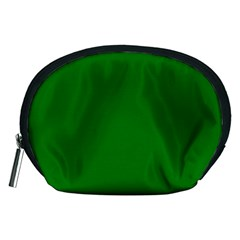 Solid Christmas Green Velvet Classic Colors Accessory Pouches (medium)  by PodArtist
