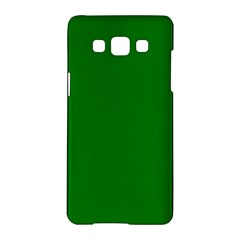 Solid Christmas Green Velvet Classic Colors Samsung Galaxy A5 Hardshell Case  by PodArtist
