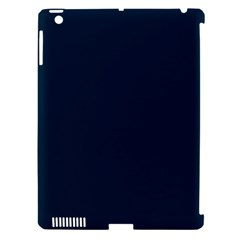 Solid Christmas Silent Night Blue Apple Ipad 3/4 Hardshell Case (compatible With Smart Cover) by PodArtist