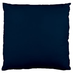 Solid Christmas Silent Night Blue Large Cushion Case (two Sides) by PodArtist