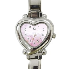 Pink Blossom Bloom Spring Romantic Heart Italian Charm Watch by BangZart