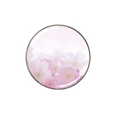 Pink Blossom Bloom Spring Romantic Hat Clip Ball Marker (4 Pack) by BangZart