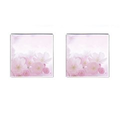 Pink Blossom Bloom Spring Romantic Cufflinks (square) by BangZart