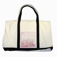 Pink Blossom Bloom Spring Romantic Two Tone Tote Bag by BangZart