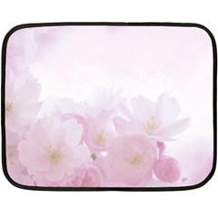 Pink Blossom Bloom Spring Romantic Double Sided Fleece Blanket (mini)  by BangZart