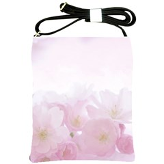 Pink Blossom Bloom Spring Romantic Shoulder Sling Bags by BangZart