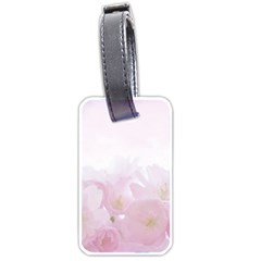 Pink Blossom Bloom Spring Romantic Luggage Tags (two Sides) by BangZart