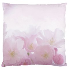Pink Blossom Bloom Spring Romantic Large Cushion Case (two Sides) by BangZart