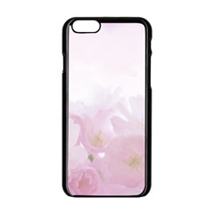 Pink Blossom Bloom Spring Romantic Apple Iphone 6/6s Black Enamel Case by BangZart