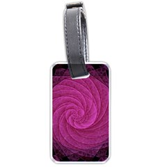 Purple Background Scrapbooking Abstract Luggage Tags (one Side)  by BangZart