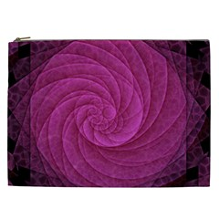 Purple Background Scrapbooking Abstract Cosmetic Bag (xxl)  by BangZart