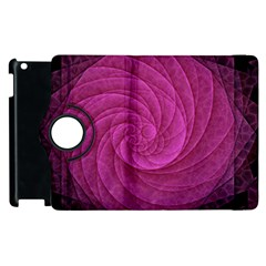 Purple Background Scrapbooking Abstract Apple Ipad 2 Flip 360 Case by BangZart