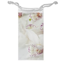 Orchids Flowers White Background Jewelry Bag