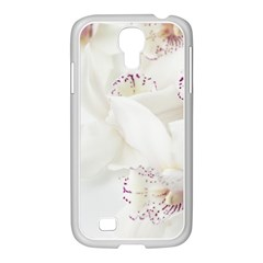 Orchids Flowers White Background Samsung Galaxy S4 I9500/ I9505 Case (white) by BangZart