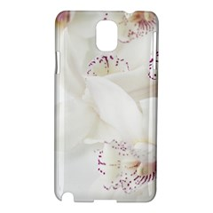 Orchids Flowers White Background Samsung Galaxy Note 3 N9005 Hardshell Case by BangZart