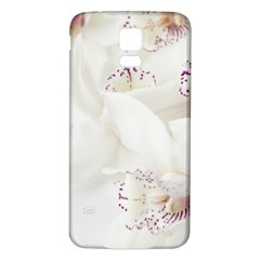 Orchids Flowers White Background Samsung Galaxy S5 Back Case (white)