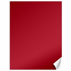 Usa Flag Red Blood Red Classic Solid Color  Canvas 36  X 48   by PodArtist