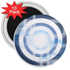 Center Centered Gears Visor Target 3  Magnets (10 Pack)  by BangZart