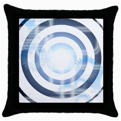 Center Centered Gears Visor Target Throw Pillow Case (black) by BangZart