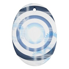 Center Centered Gears Visor Target Ornament (oval) by BangZart