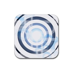 Center Centered Gears Visor Target Rubber Coaster (square)  by BangZart