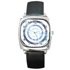 Center Centered Gears Visor Target Square Metal Watch by BangZart