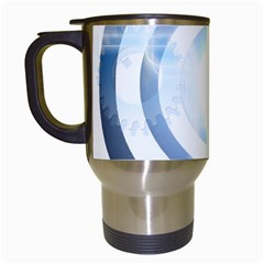 Center Centered Gears Visor Target Travel Mugs (white)