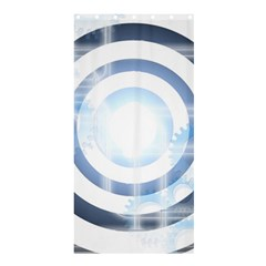 Center Centered Gears Visor Target Shower Curtain 36  X 72  (stall)  by BangZart