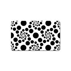 Dot Dots Round Black And White Magnet (name Card) by BangZart