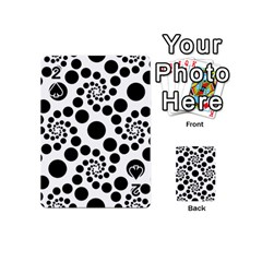 Dot Dots Round Black And White Playing Cards 54 (mini)  by BangZart