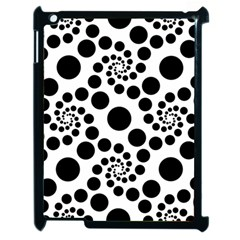 Dot Dots Round Black And White Apple Ipad 2 Case (black) by BangZart