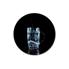 Glass Water Liquid Background Magnet 3  (round) by BangZart