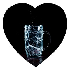 Glass Water Liquid Background Jigsaw Puzzle (heart) by BangZart
