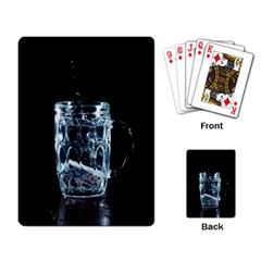 Glass Water Liquid Background Playing Card by BangZart
