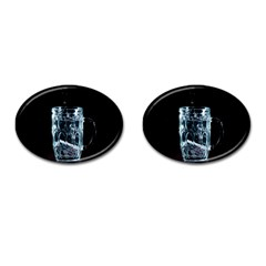 Glass Water Liquid Background Cufflinks (oval) by BangZart