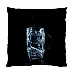 Glass Water Liquid Background Standard Cushion Case (two Sides) by BangZart