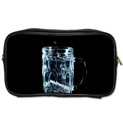 Glass Water Liquid Background Toiletries Bags