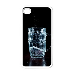 Glass Water Liquid Background Apple Iphone 4 Case (white) by BangZart