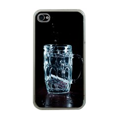 Glass Water Liquid Background Apple Iphone 4 Case (clear) by BangZart